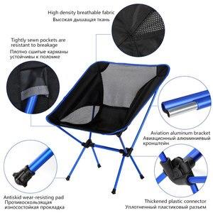 Image 3 - Portable Folding Fishing Chair Camping Chair Seat 600D Oxford Cloth Aluminium Fishing Chair for Outdoor Picnic BBQ Beach Chair