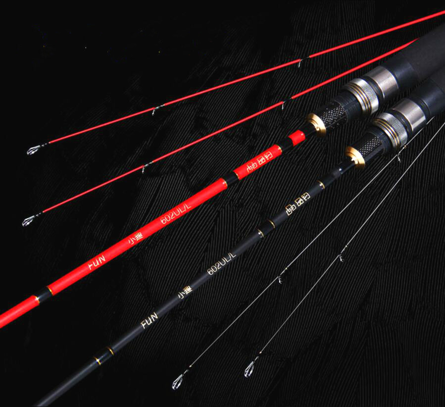 Cheap Fishing Rods 1.8m Power UL 2 Section Travel Spinning Lure Carbon Fiber Fishing Rod Pole goture 2 1 2 4m baitcasting fishing rod carbon fiber medium fast action 2 section lure fishing rods