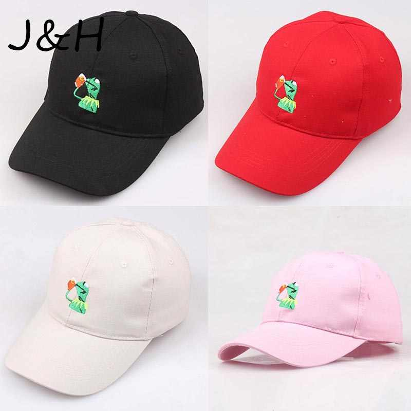 4f86f94b85f8cc High Quality Kermit None Of My Business Baseball Cap Hip Hop Unisex  Embroidered Sipping Tea Frog