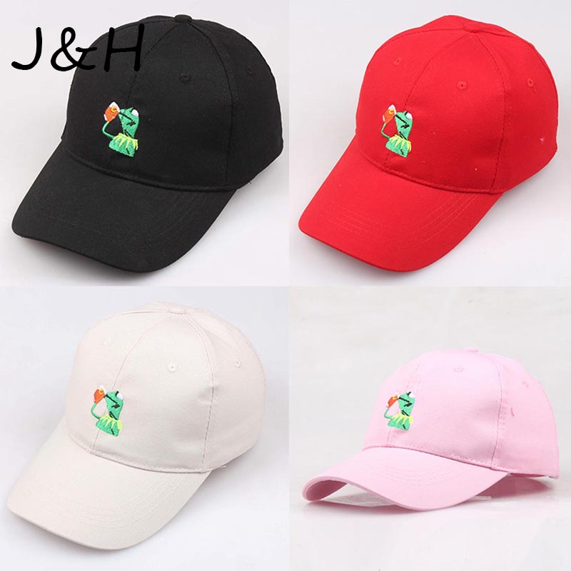 High Quality Kermit None Of My Business   Baseball     Cap   Hip Hop Unisex Embroidered Sipping Tea Frog Dad Hat Friend Gift