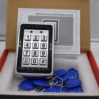125Khz Metal Standalone Rfid Access Control DC 12V Password Door Access Led Light Backlight Free
