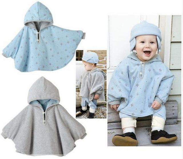 New 2016 Autumn winter baby outerwear baby cape coat hooded baby clothes vetement enfant J0100