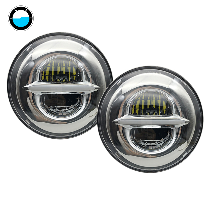 7 LED Headlights with H4 to H13 Adapter For LADA VAZ 2101 For Jeep Wrangler lada niva 4x4 For Harley 7Inch LED Headlamps.