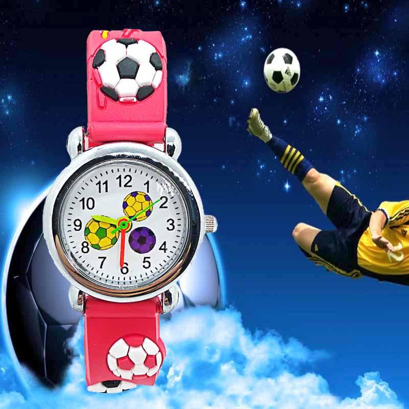 HBiBi Brand Cartoon Football Watch Children Kids Watches For Girls Boys Student Clock Child Quartz Wristwatch Relogio Kol Saati