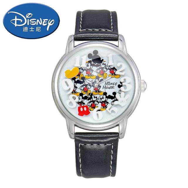 8ed8d386ca98 Reloj de pulsera de cuarzo de moda informal Mickey marca auténtica niños  niñas reloj de pulsera