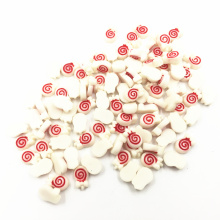 100Pcs White Red Cameo Cabochon Decoration Lollipop Acrylic Flat Back Fashion Jewelry DIY Findings Charms 9mm