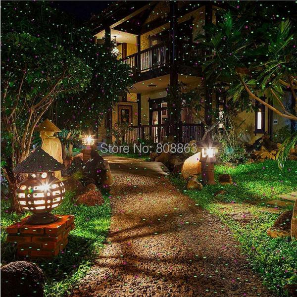 R&G Outdoor Waterproof Remote Full Stars Laser Projector Indoor Holiday Home Xmas Tree Wall Lighting Garden Landscape Light T79