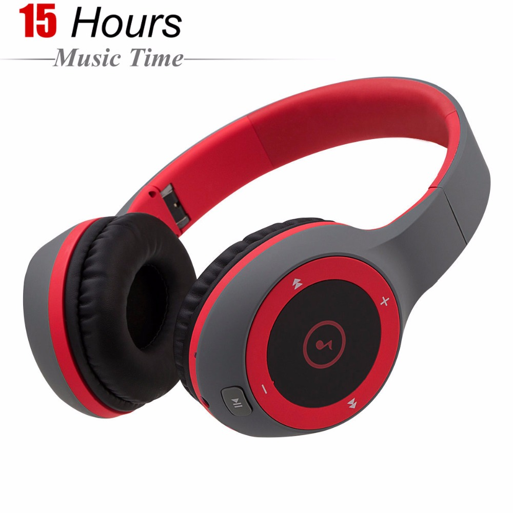 LeadTry Wireless Headset Bluetooth Headphones with Mic Support TF Card FM Radio for iPhone Samsung Xiaomi Huawei Phones wireless headphones bluetooth headset 4 in 1 earphone earbuds with mic micro sd tf fm radio for iphone 7 6s ipad android device
