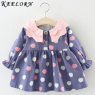 Keelorn Baby Girl Dress 2019 Autumn Winter girls clothes Flower printing Dress+Vest+Bag Newborns Birthday Dresses Girls Clothes