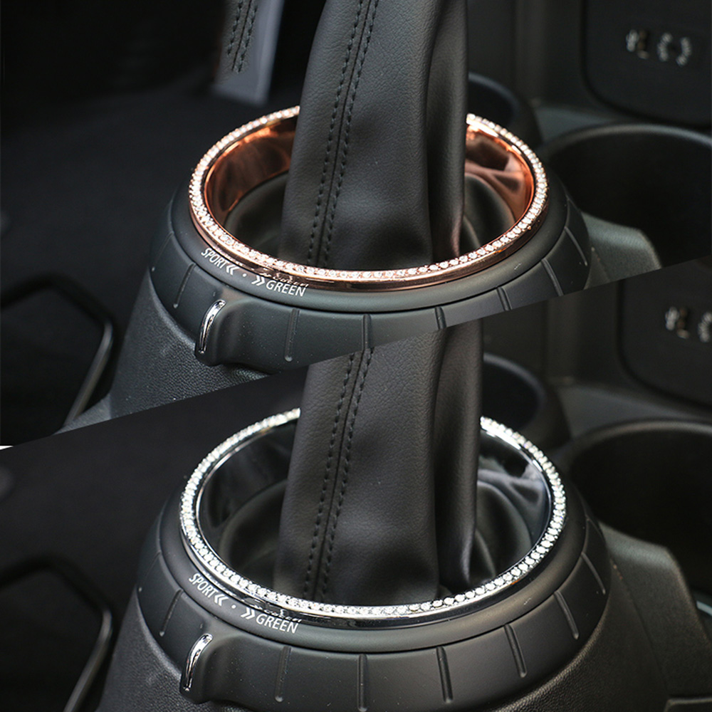 Car Gear Shift Ring Diamond Decoration Hand Brake Trim Case For MINI Cooper One D JCW F54 F55 F56 F60 Countryman Accessories