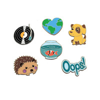 1 PC Cartoon Brooch Badge Metal Icon Badges for Clothes Animal Shaped Badges on Backpack Pins Icons
