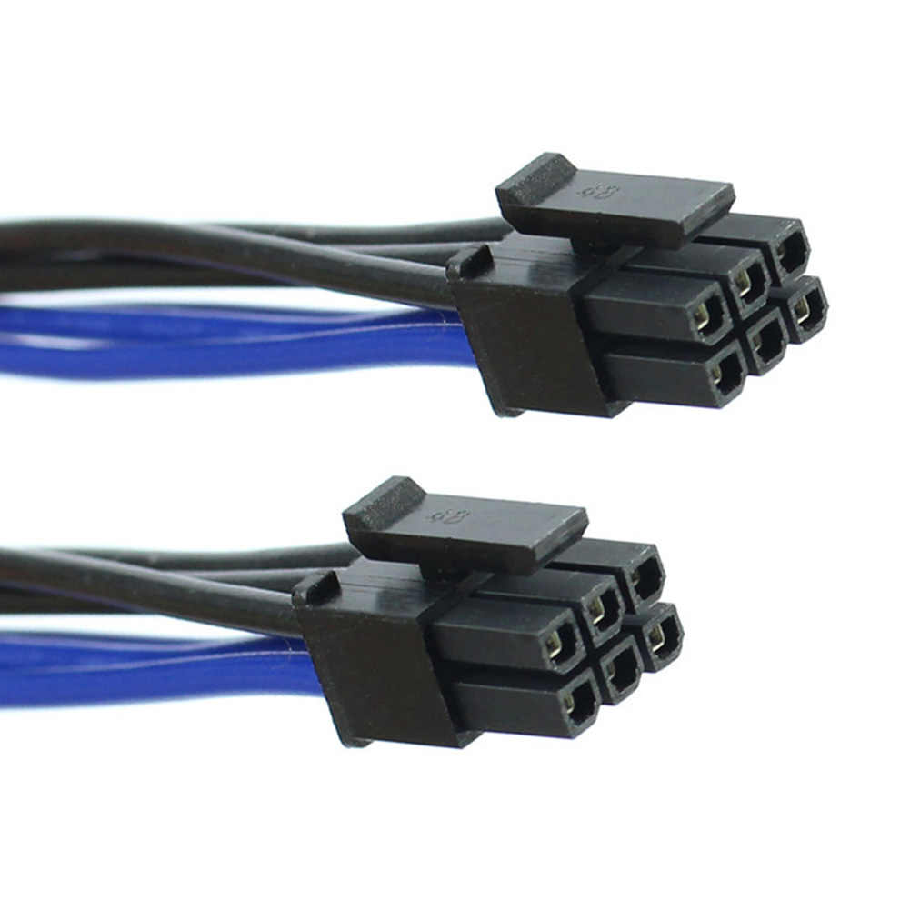 מחשב מתאם וידאו כרטיס חוט החלפת אביזרי 6 פין כדי 8 פינים מחבר כבל חשמל גבוהה מהירות כפולה מיני עבור אפל G5