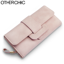 OTHERCHIC Women Long Roomy Wallet Elegant Fashion Clutch Wallet Purse Card Coin Pockets Women Purse Zipper Female Purses 6N08-31