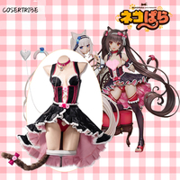 Anime NEKOPARA Cat Paradise Chocolate Lovely Maid Dress Uniform Outfit Cosplay Costume For Women Halloween Freeshipping New 2019
