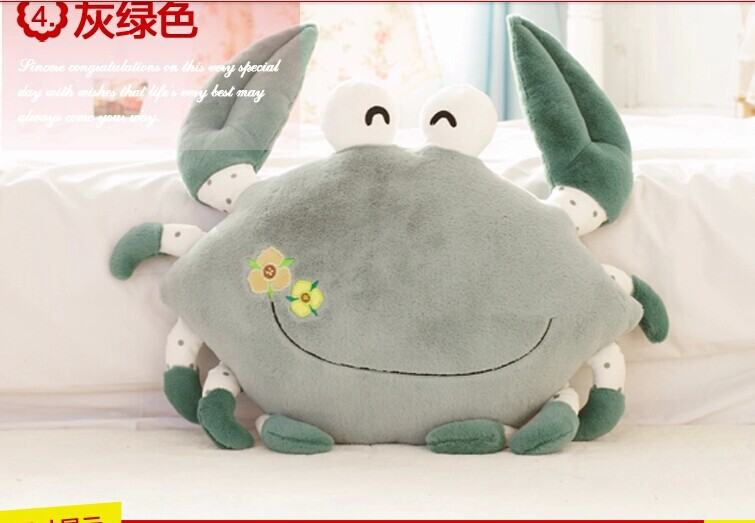 lovely gray crab font b plush b font toy cartoon crab doll pillow birthday gift about