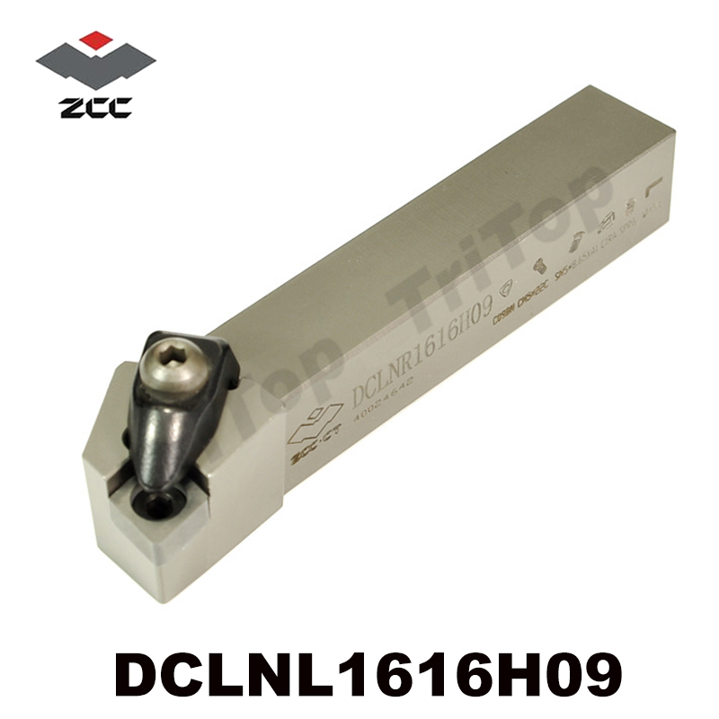 ZCC.CT CNC External turning tool holder DCLNL1616H09  top quality tungsten carbide insert tool shank left hand holder high quality cnc lathe internal grooving and turning tool holder mgivl2520 3 mgivr2520 3 for carbide insert mgmn300 m
