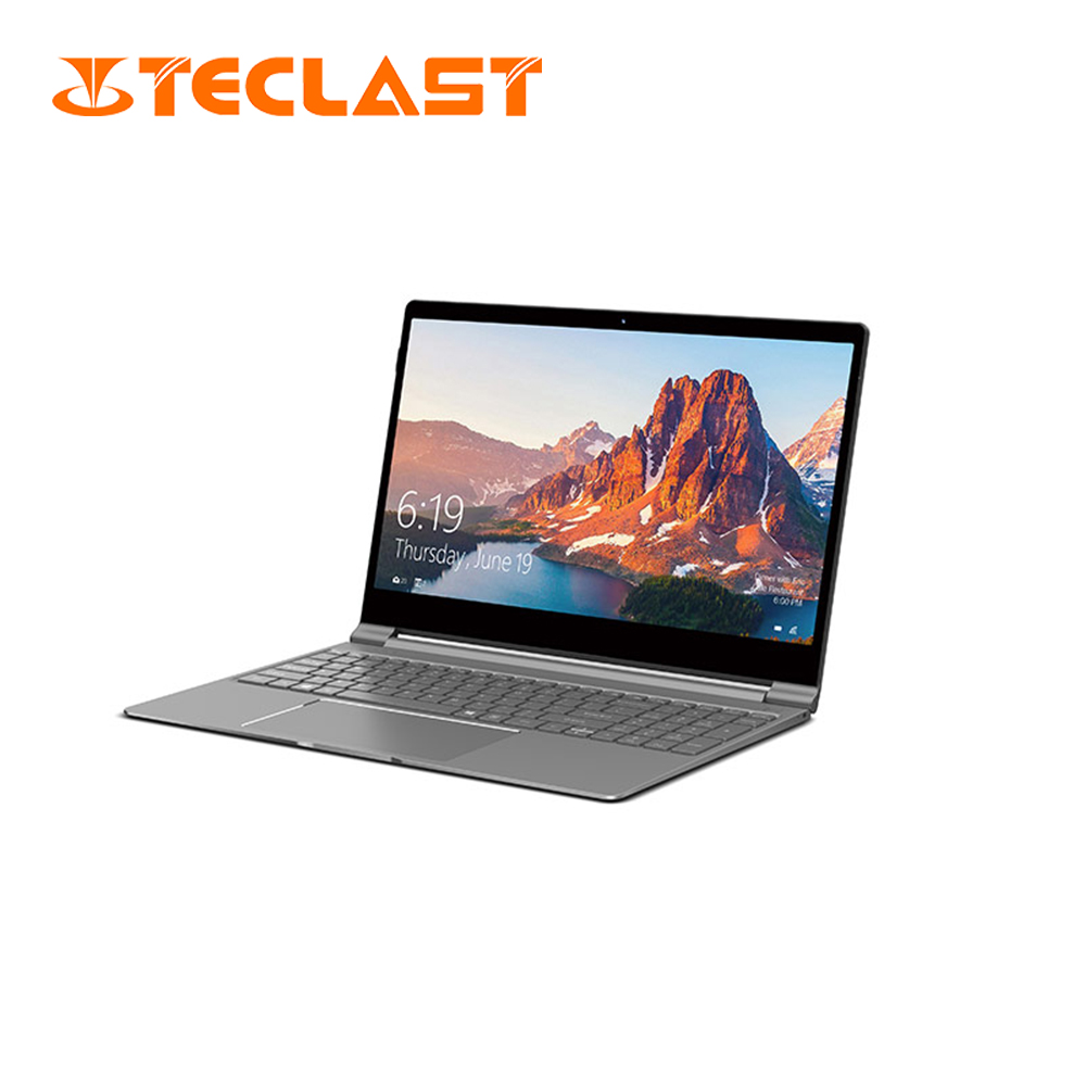 Teclast F15 laptop 15.6inch IPS 1920x1080 Windows10 Intel N4100 Quad Core 8GB DDR4 RAM 256GB SSD ROM Front Camera Type-C USB3.0(China)