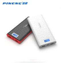 Banco de Energia Li-polímero com LED Indicador para Smartphones Pineng Pn-920 Original Novidade 20000 MAH Bateria Portátil Móvel USB Carregador de