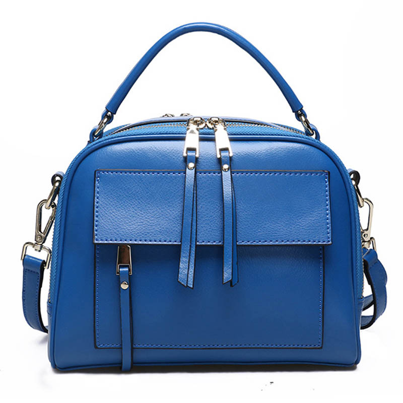 Genuine Leather Shoulder Bag WoMan With Pockets Designer HandBag High Quality Zipper Messenger s 2019 Brand