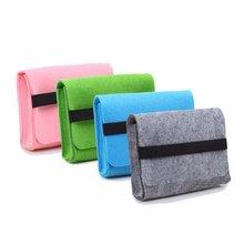 USB Cable Power Bank Felt Storage Bag Portable Travel Digital Accessories Felt Storage Phone Charging Bag Cover Protector Case