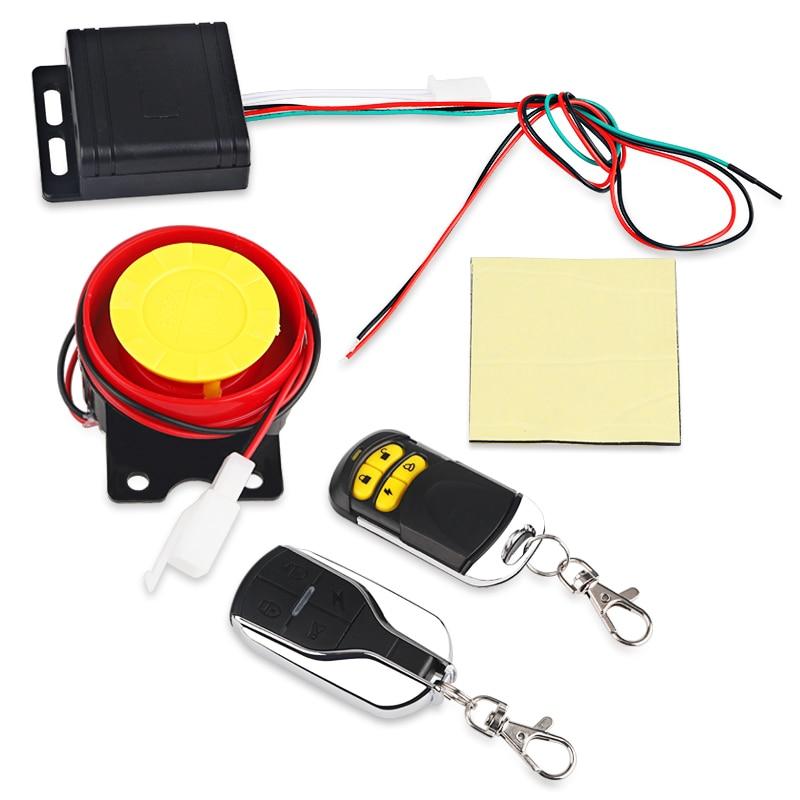 Sistema de alarma antirrobo de seguridad de la motocicleta Control remoto motocicleta Moto Scooter Motor Sistema de alarma con arranque remoto 12V
