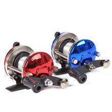 New Mini Metallic Bait Casting Spinning Boat Ice Fishing Reel Fish Water Wheel Baitcast Curler Coil with 50M Wire Fishing Provides