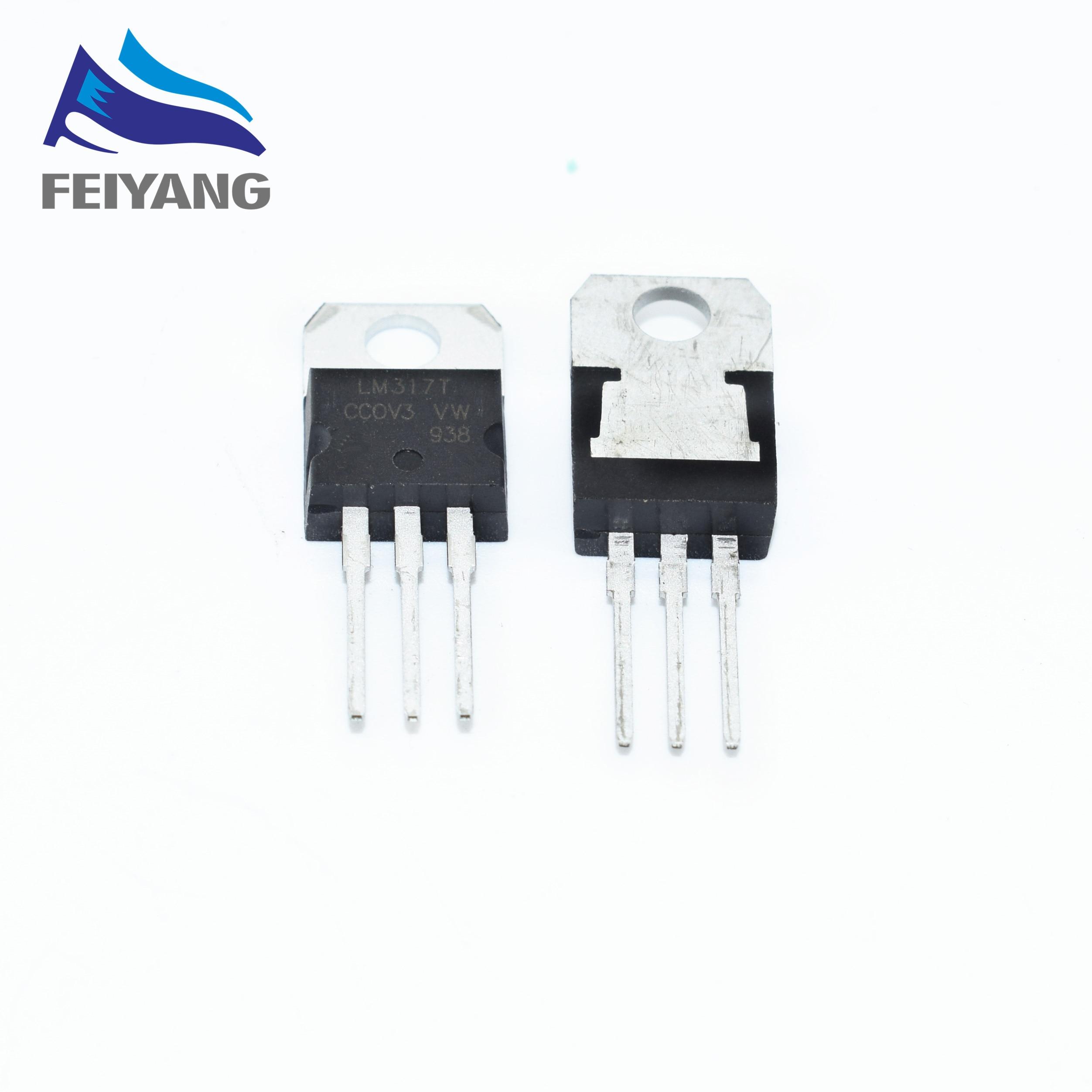 Free Shopping 10pcs Lm317t Lm317 Voltage Regulator Ic 12v To 37v Adjustable Source Integrated Circuit 7805 Positive Operational Amplifier 4558 10 Unids Regulador De Voltaje 12 V A 37 15a