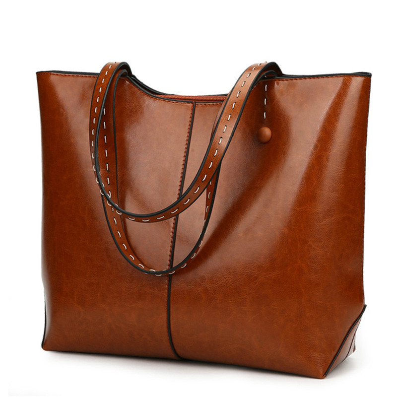 Autumn New PU Leather Women Bag Female Shoulder Bags 2018 New Vintage Designer Handbags High Quality Famous Brands Tote Bag