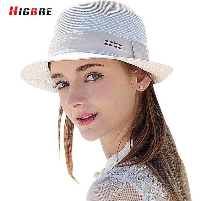 2016 Повседневная Твердые Весна Лето Шляпы Для Женщин Вс Hat Женская Мода Соломы Пляж Шляпы Белый Дышащий Сомбреро Mujer Verano