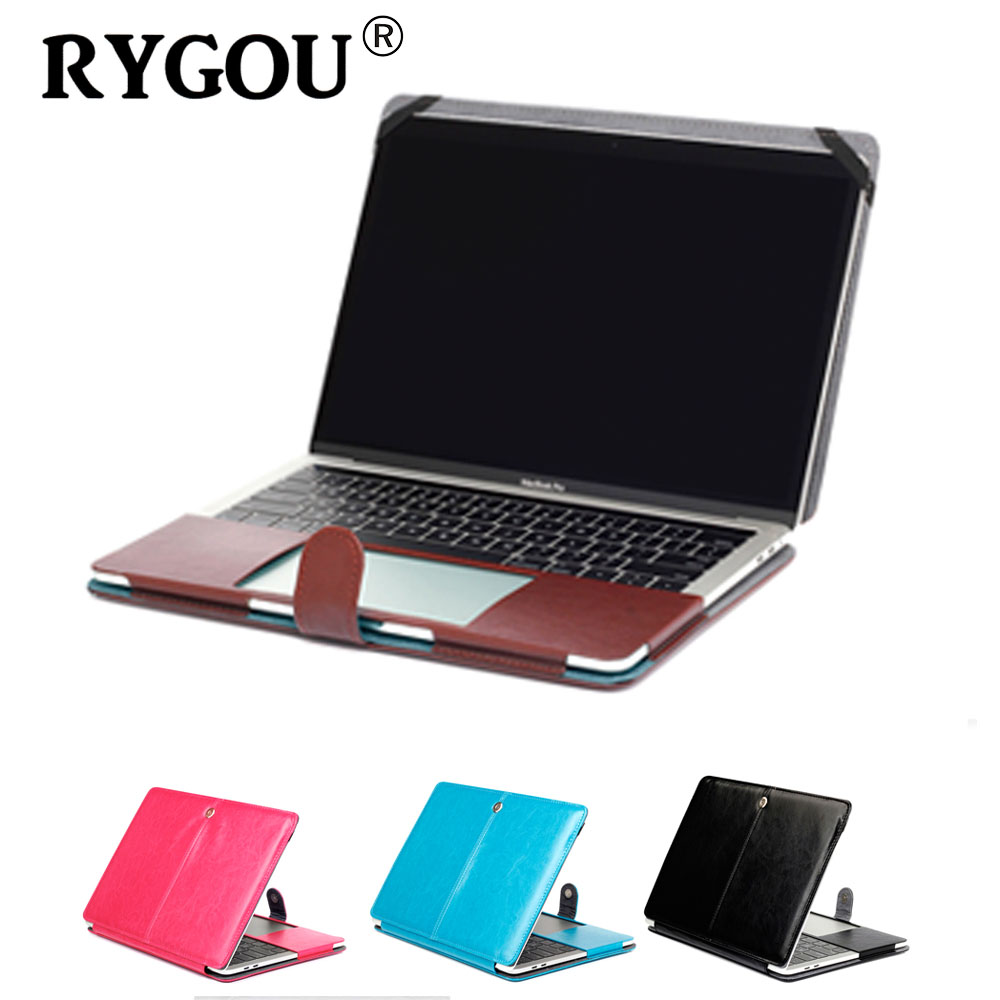 2016-2018 New Magnetic Holster Pu Leather Case for Macbook Pro 13 15 inch Laptop Case Model A1706 A1707 A1708 A1988 A1989 A1990