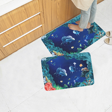 Non-Slip Rug Floor Mat Kitchen Living Room Ocean Animal Polyester+PVC+TPR Repeatable Skid Resistant Decoration