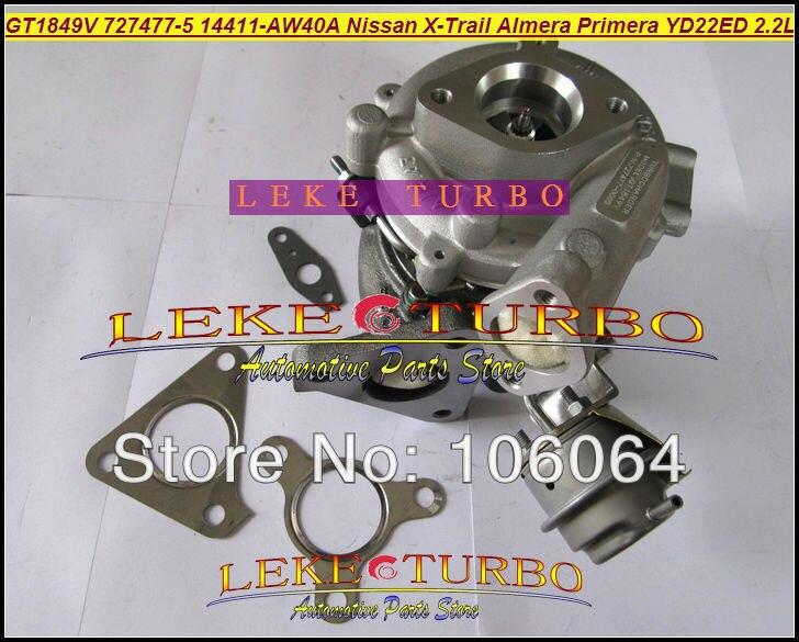 Oil Cooled Turbo GT1849V 727477 727477-0005 727477-0006 14411-AW400 For NISSAN X-Trail T30 Almera Primera 2003- YD22ED YD1 2.2L