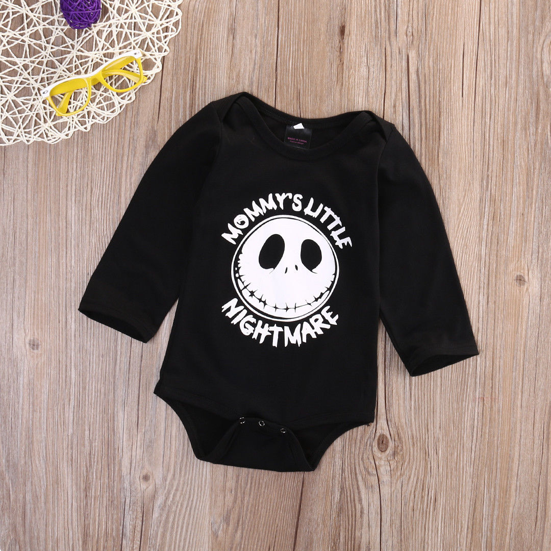398ceb14a Newborn Baby boys girls Little nightmare Bodysuits onesie Infant ...