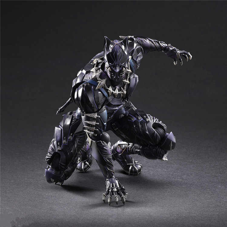 PLAY ARTS 27cm Marvel Avengers Black Panther Super Hero PVC Action Figure Model Speelgoed