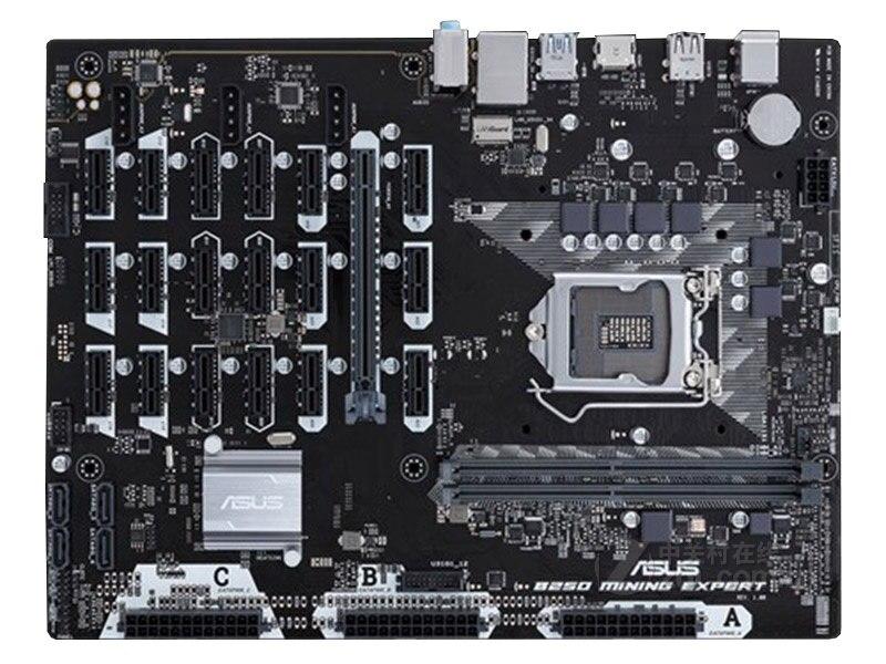 Free Shipping Original Motherboard ASUS B250 MINING EXPERT DDR4 LGA 1151 USB2.0 Boards 32GB B250 Desktop Motherborad