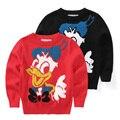 Yn-89, Pato, Outono camisola, Crianças meninos meninas pulôver, Fio de algodão