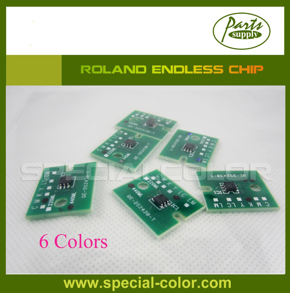 Endless Chip for Roland Refill ink cartridge 6 color for epson stylus pro 4000 refill ink cartridge with resettable chip and chip resetter 8 color 300ml