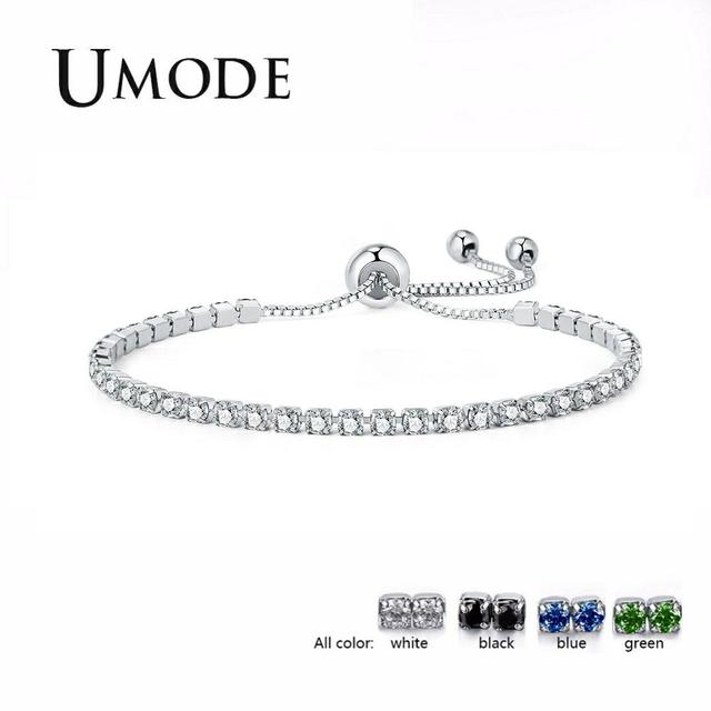 UMODE 4 צבעים אופנה מעוקב Zirconia טניס צמיד & צמידים לנשים מתנות חדש יוקרה Armbanden Voor Vrouwen Bijoux UB0124