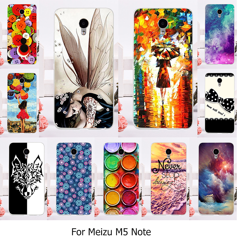 TAOYUNXI TPU Silicone Phone Cover Case For Meizu M5 Note Meilan Note 5 Cellphone Muti-Color Drawing Case Cover Plastic M5note
