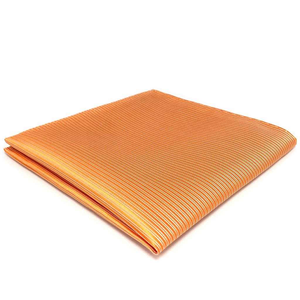 FH19 Orange Striped Mens Pocket Square Fashion Solid Hanky Party Silk Handkerchief