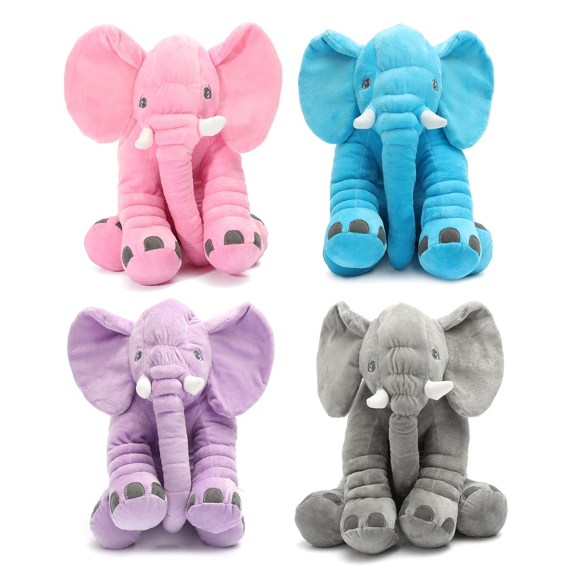 Locely Soft Baby Sleep Plush Animals Long Nose Elephant Doll Cute Plush Stuff Toys Portable Stuffed Toys Warm Gift For Baby Kids cute 45cm stuffed soft plush penguin toys stuffed animals doll soft sleep pillow cushion for gift birthady party gift baby toy