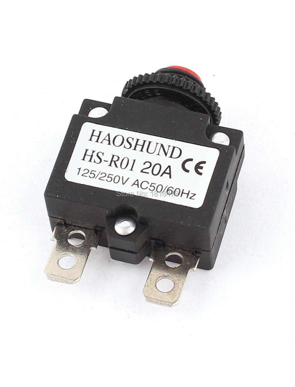 AC 125//250V 15A HS-R01 Air Compressor Circuit Breaker Overload Protector Black