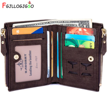 FGJLLOGJGSO Slim Wallet RFID Men Wallets Portfolio Purse Male Clutch Bag With Coin Money Mens Zipper Bifold Walet Cuzdan Vallet