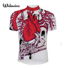 heart High quality Men Short Sleeve Cycling Jerseys Summer Breathable Sports Clothing Bike Shirt with White Stripes 5421 original pxl 5421 selling with good quality and contacting us