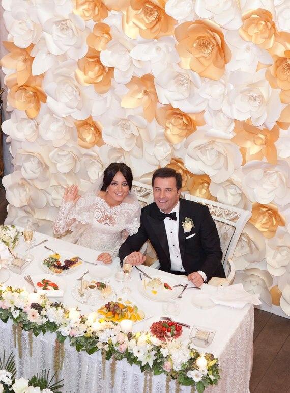 72PCS SET Cardboard Paper Giant Flowers Simulation Handmade Wedding ...