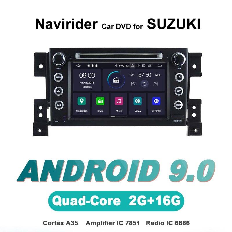 ELANMEY avancé gps navigation pour SUZUKI GRAND VITARA voiture accessoires android 9.0 voiture DVD multimédia radio stéréo bluetooth