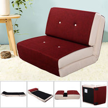 Giantex Fold Down Chair Flip Out Lounger Modern Convertible Bedroom Sleeper Bed Couch Living Room Furniture HW52681RE(China)