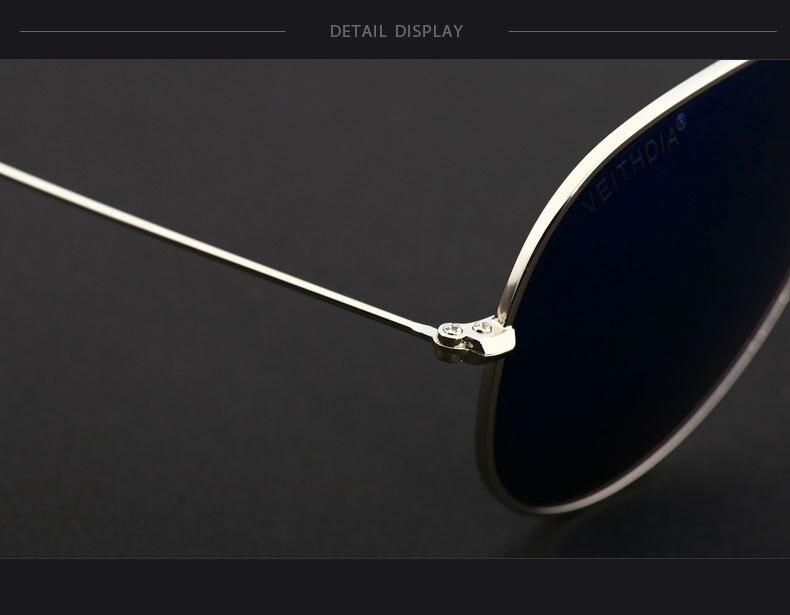 Солнцезащитные очки унисекс VEITHDIA, брендовые классические дизайнерские очки с зеркальными поляризационными стеклами, степень защиты UV400, для мужчин и женщин
