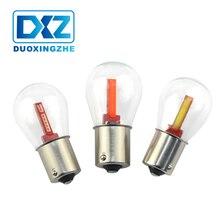 2pcs NEW P21W BA15S 1156 LED Turning Light Car Tail Brake Bulb 12V COB Filament Auto Reverse DRL Lights Blue Red White