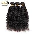 Бразильский Kinky Вьющиеся Девы Волос Ocean Wave 4 шт./лот Бразильского Виргинские Вьющиеся Волосы Мокрые и Волнистые Человеческих Волос Связки natural черный